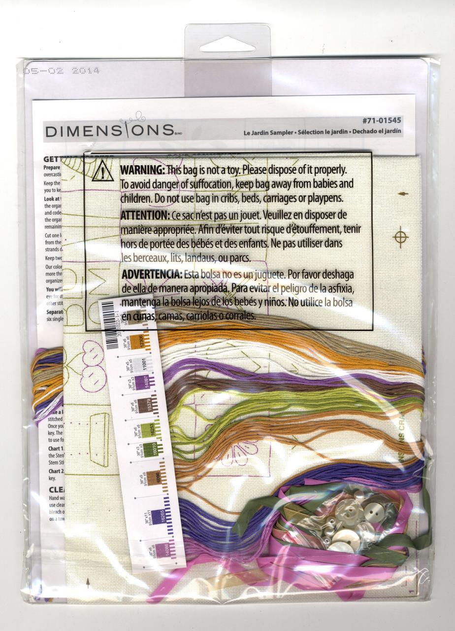 Dimensions Stamped Embroidery Kit La Jardin Sampler 1545