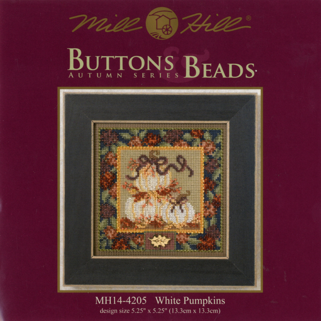 2014 Mill Hill Buttons & Beads Autumn Series  - White Pumpkins