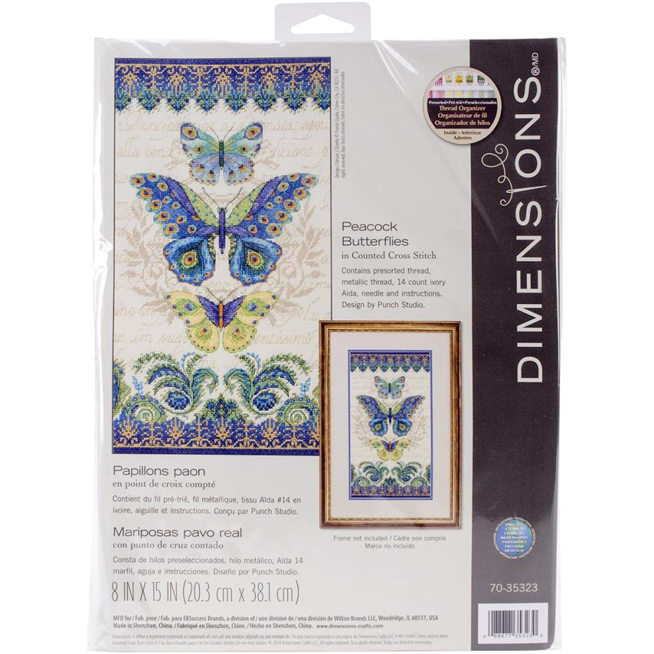 Dimensions - Peacock Butterflies