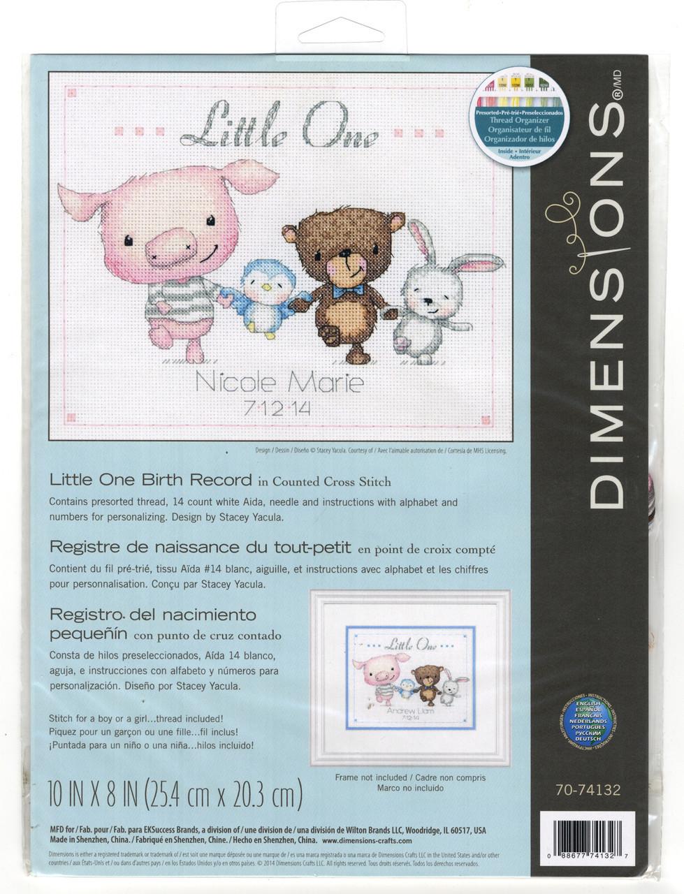 Dimensions - Little One Birth Record