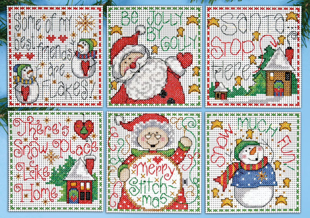 Design Works - Merry Stitch-mas Ornaments (6)
