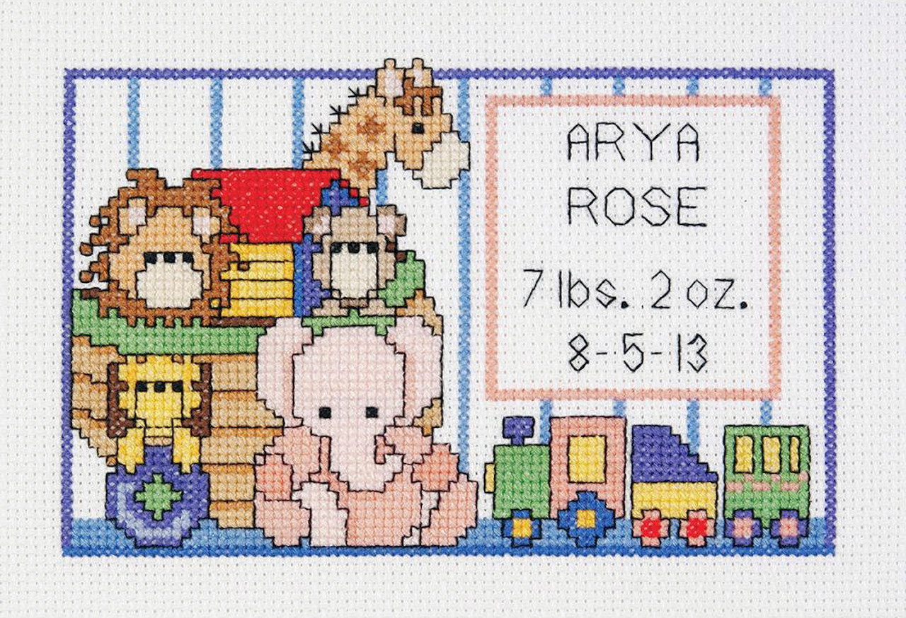 Janlynn - Noah's Ark Birth Sampler