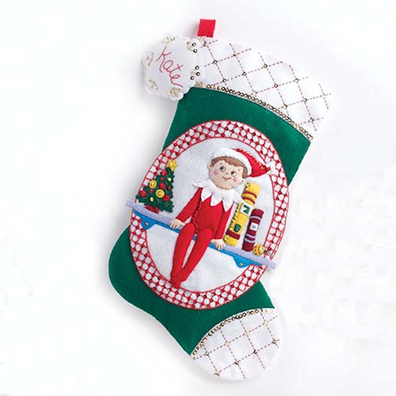 Plaid / Elf on the Shelf - Christmas Stocking