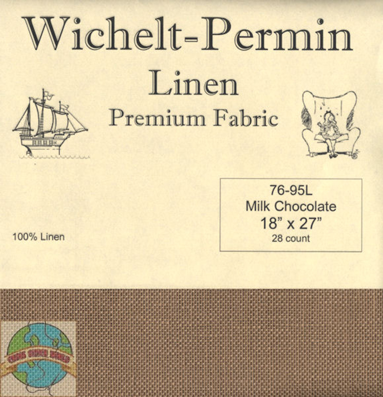 Wichelt - 28 Ct Milk Chocolate Linen 18 x 27 in