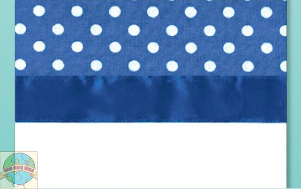 Design Works - Blue Polka Dot Towel