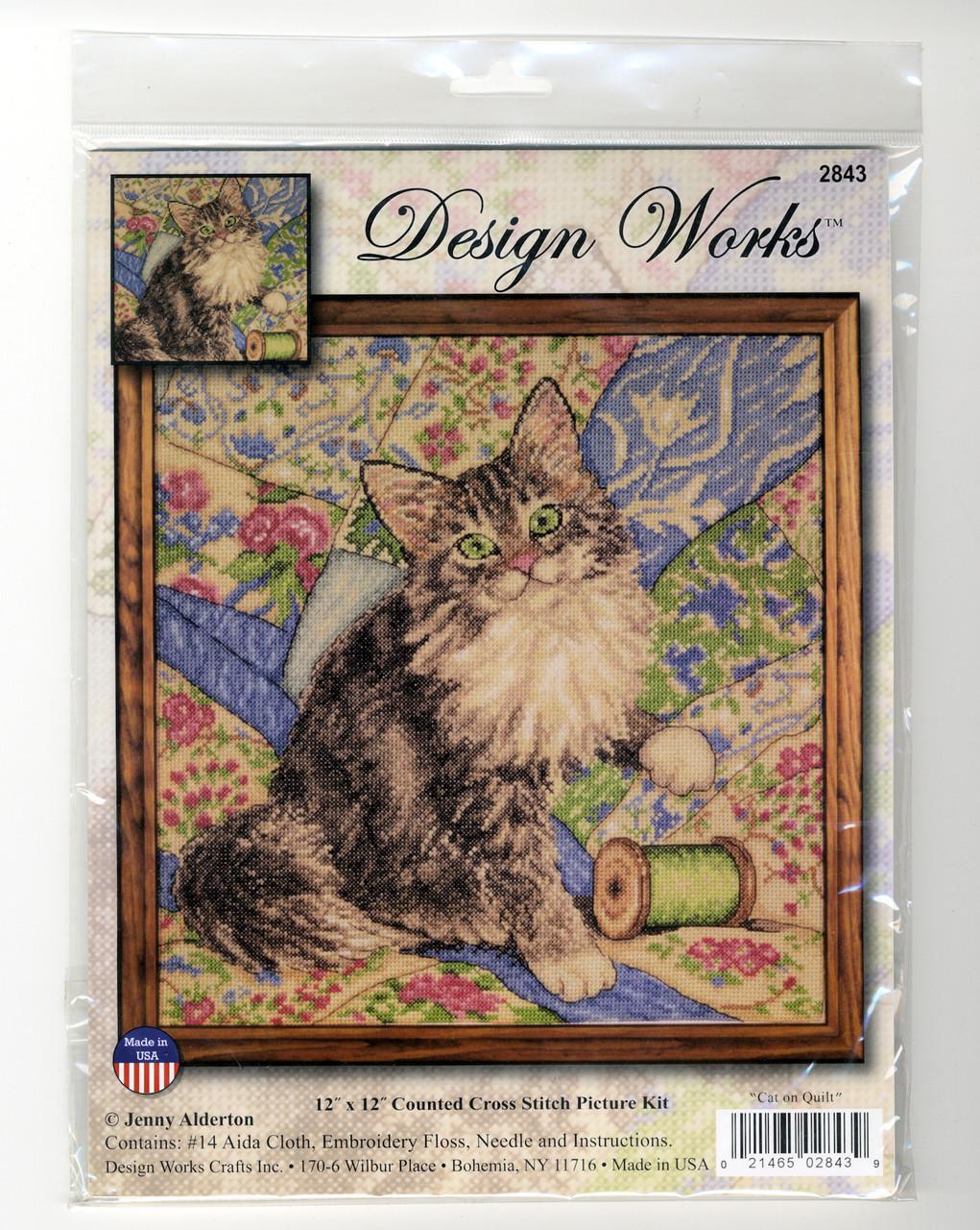 Design Works - Cat on Quilt