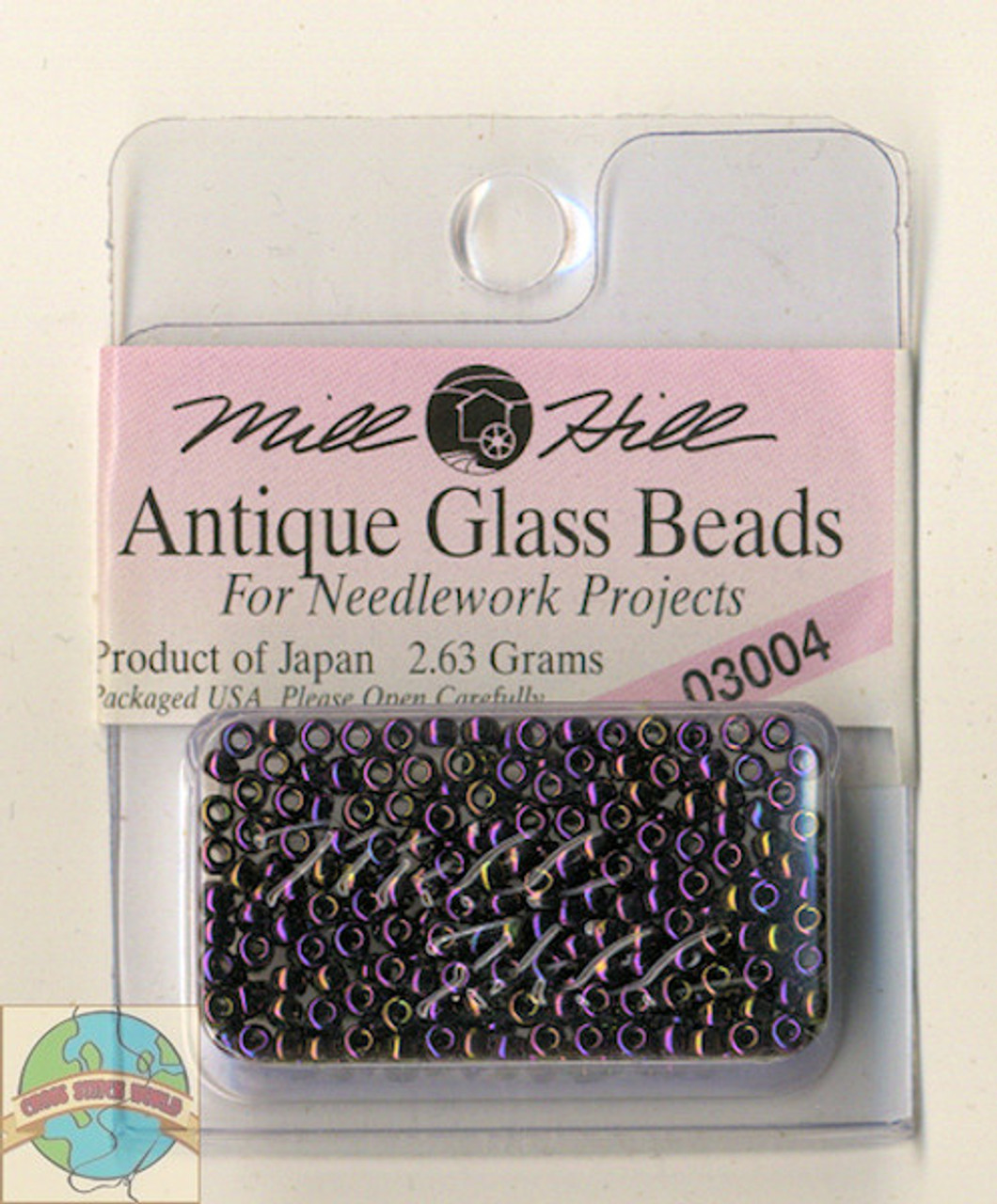 Mill Hill Antique Glass Beads 2.63g Eggplant