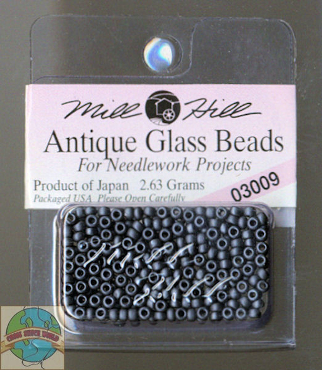 Mill Hill Antique Glass Beads 2.63g Charcoal #03009