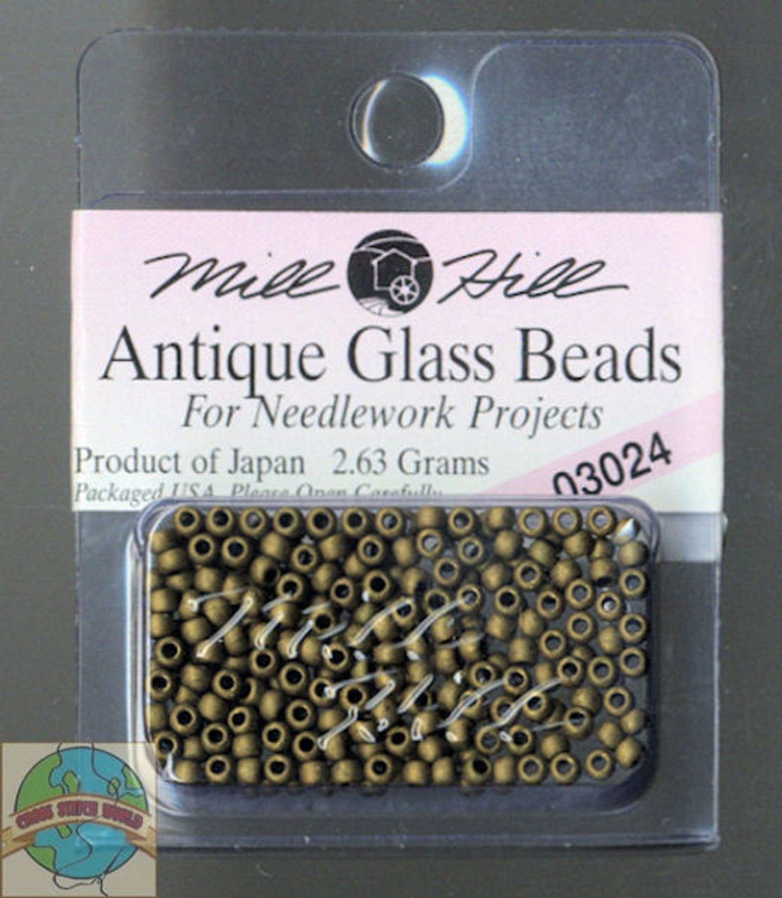 Mill Hill Antique Glass Beads 2.63g  Mocha