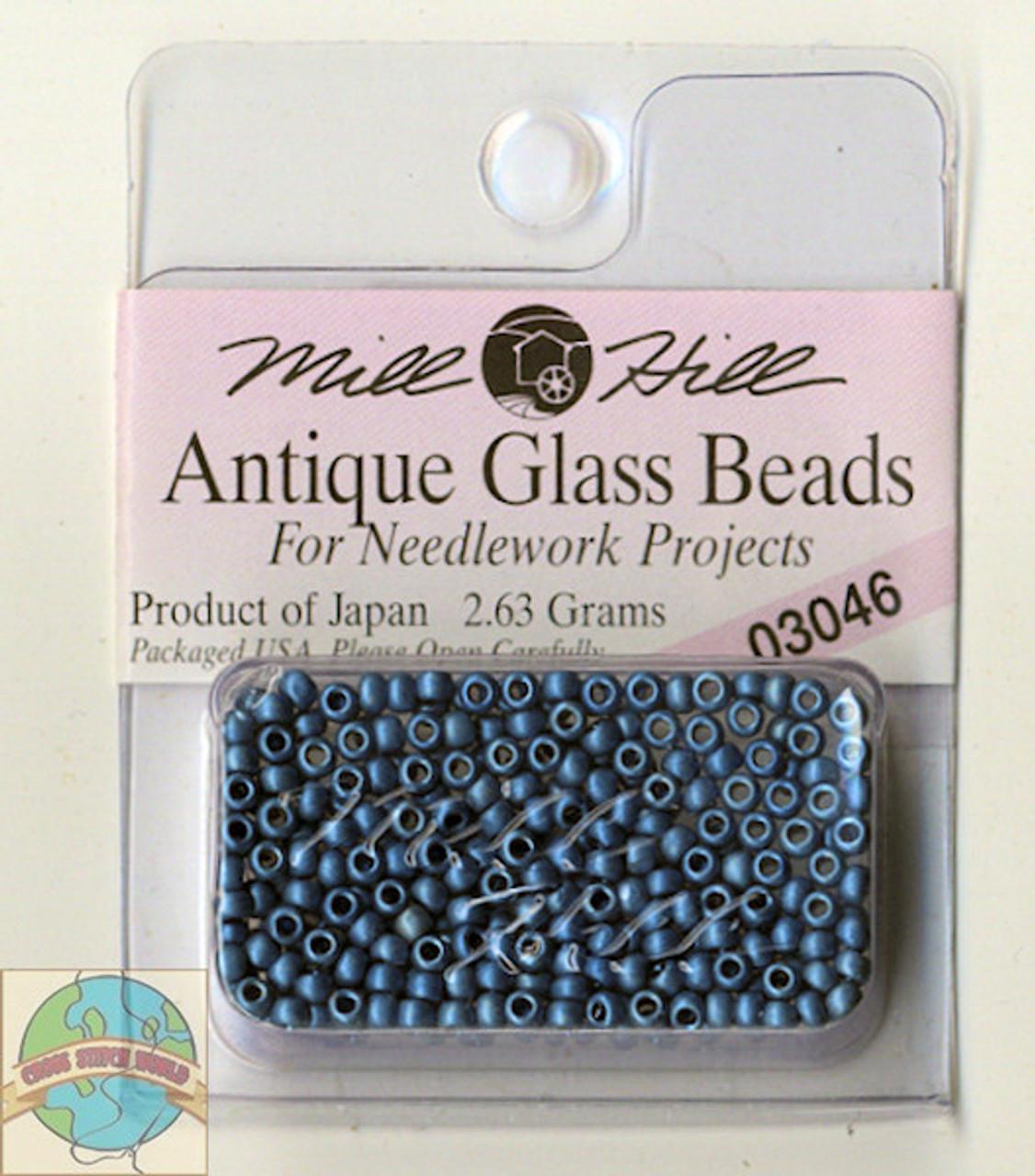 Mill Hill Antique Glass Beads 2.63g M Cadet Blue #03046