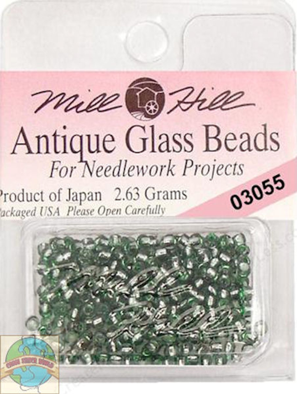 Mill Hill Antique Glass Beads 2.63g Bay Leaf #03055