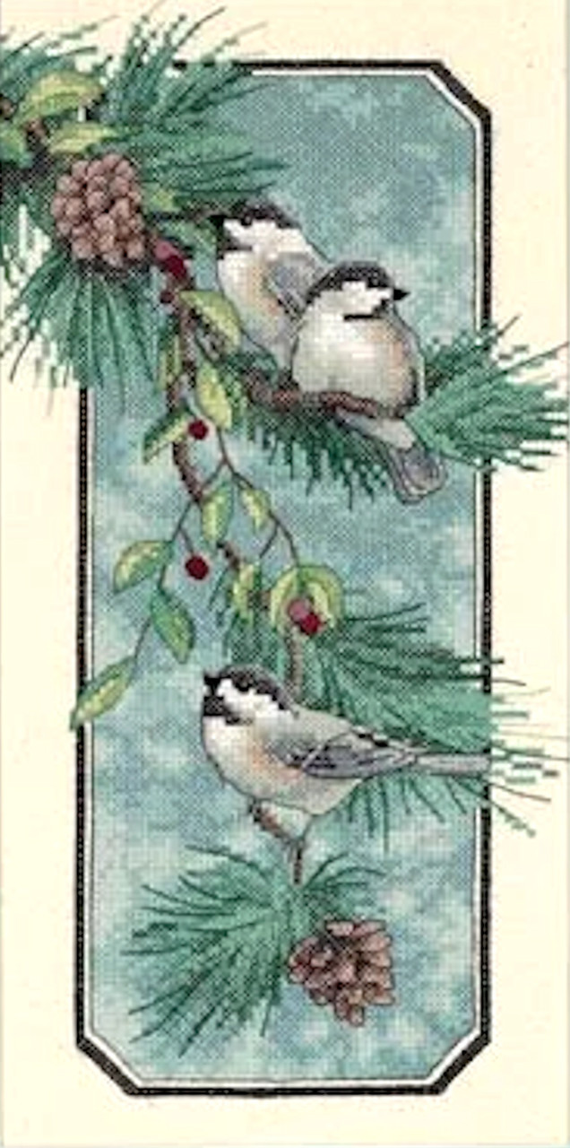 Dimensions - Chickadees On A Branch