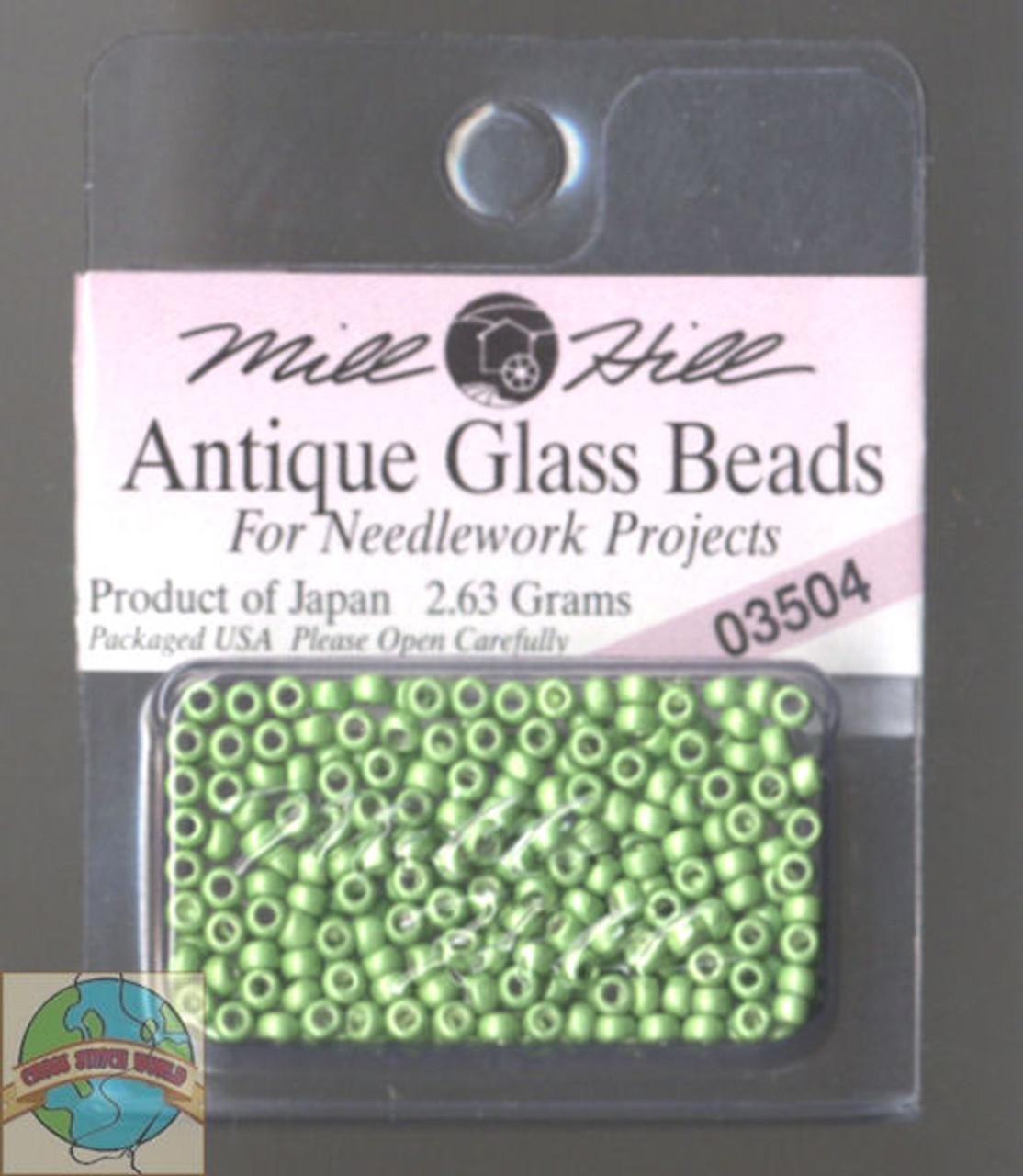 Mill Hill Antique Glass Beads 2.63g Satin Moss