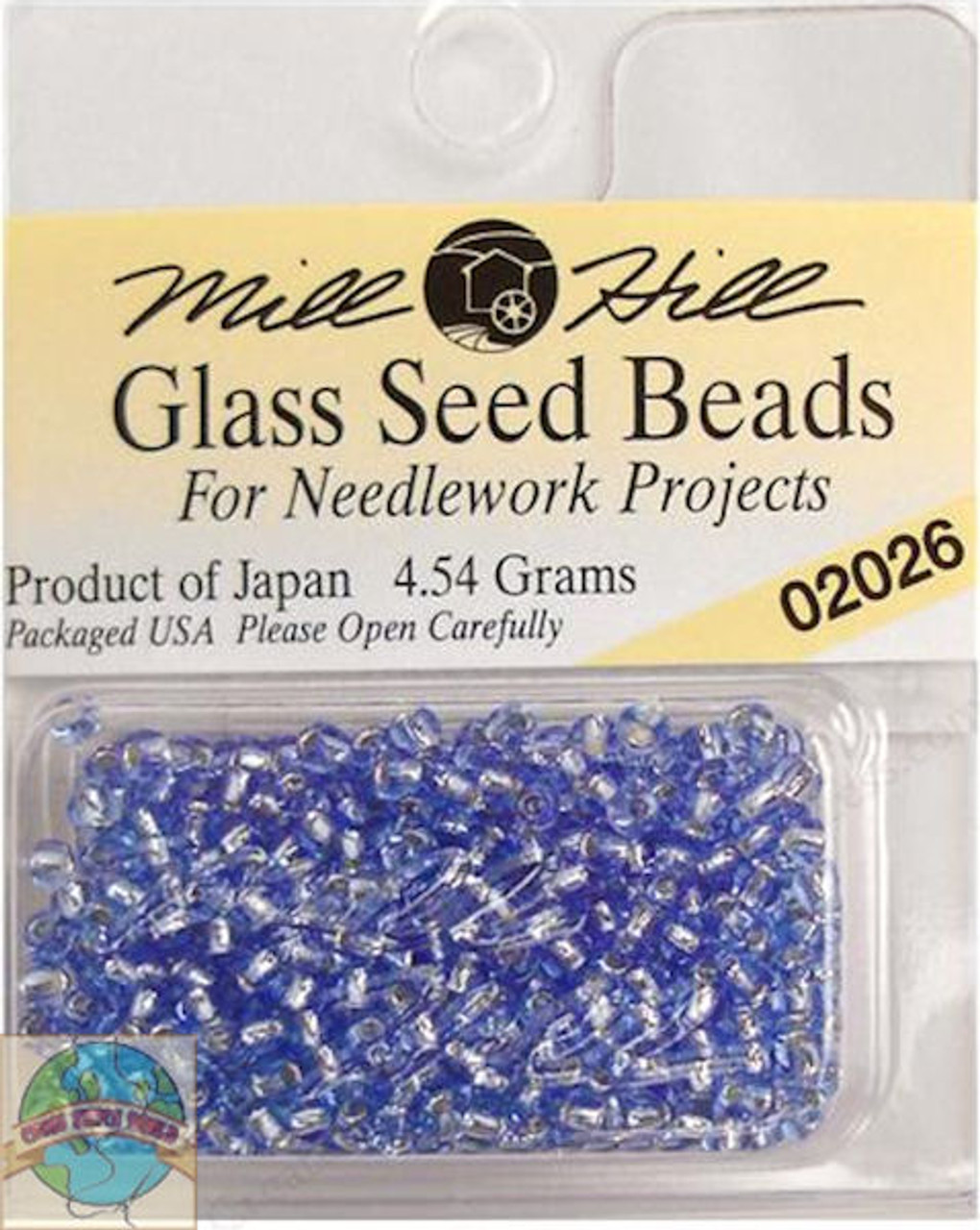 Mill Hill Glass Seed Beads 4.54g Crystal Blue #02026