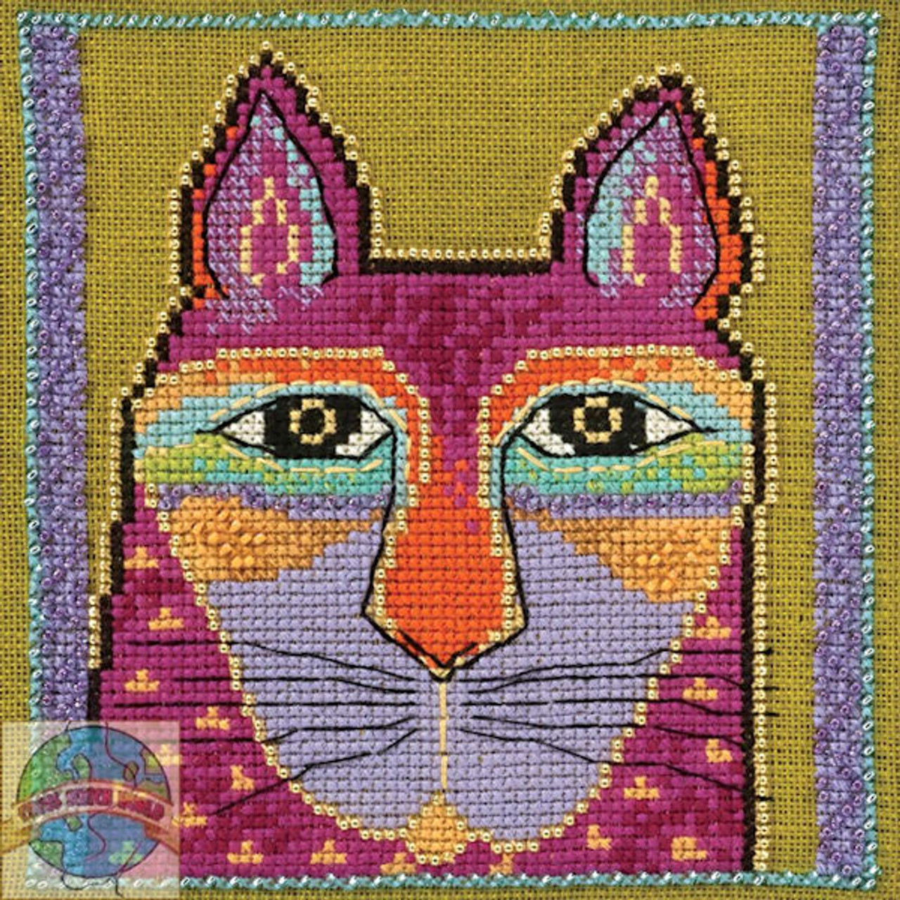 Mill Hill / Laurel Burch - Wild Pink Cat (AIDA)