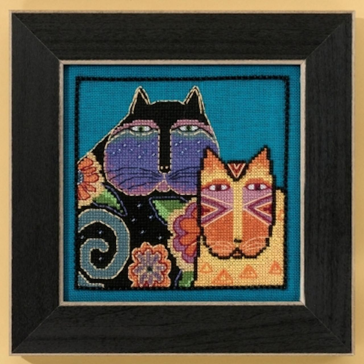 Mill Hill / Laurel Burch - Feline Friends (LINEN)