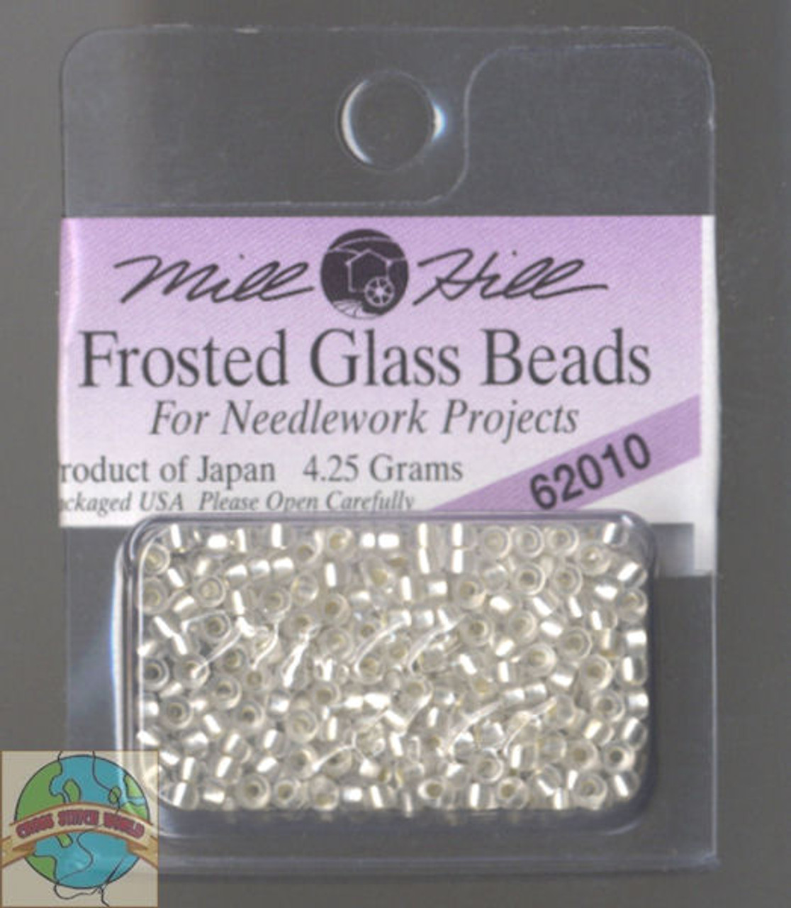 Mill Hill Frosted Glass Seed Beads 4.25g Ice #62010