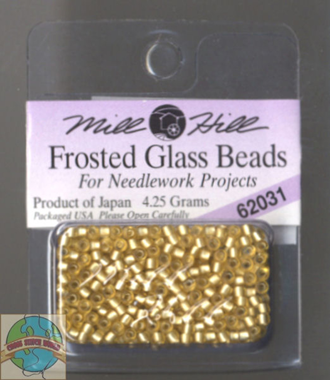 Mill Hill Frosted Glass Seed Beads 4.25g Gold #62031