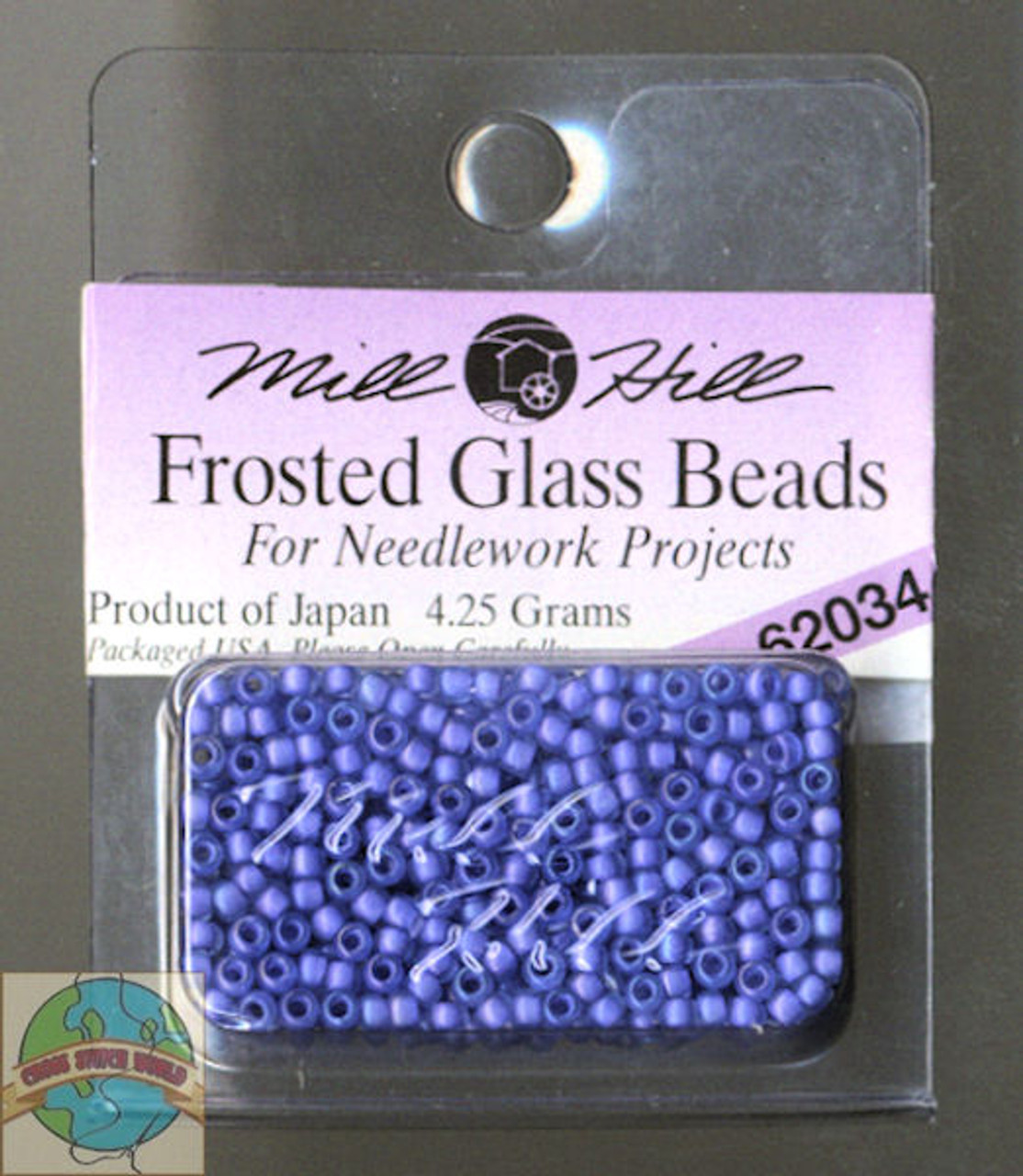 Mill Hill Frosted Glass Seed Beads 4.25g Blue Violet #62034
