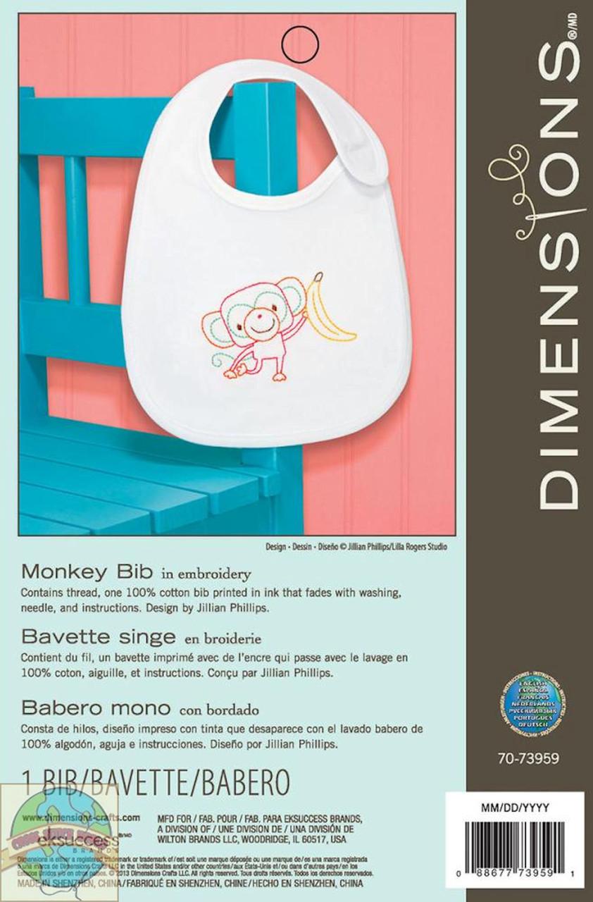 Dimensions - Monkey Bib