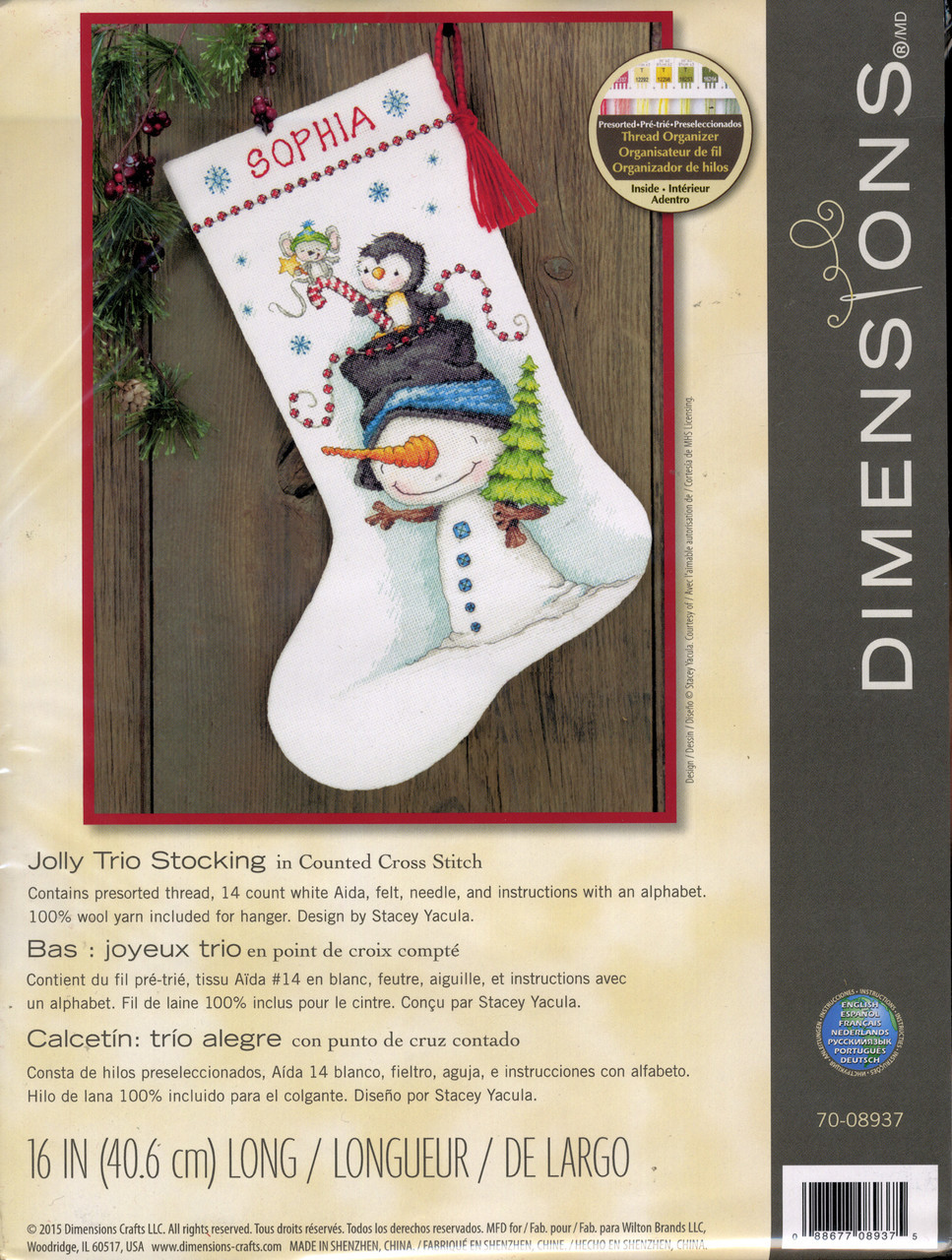 Dimensions - Jolly Trio Stocking