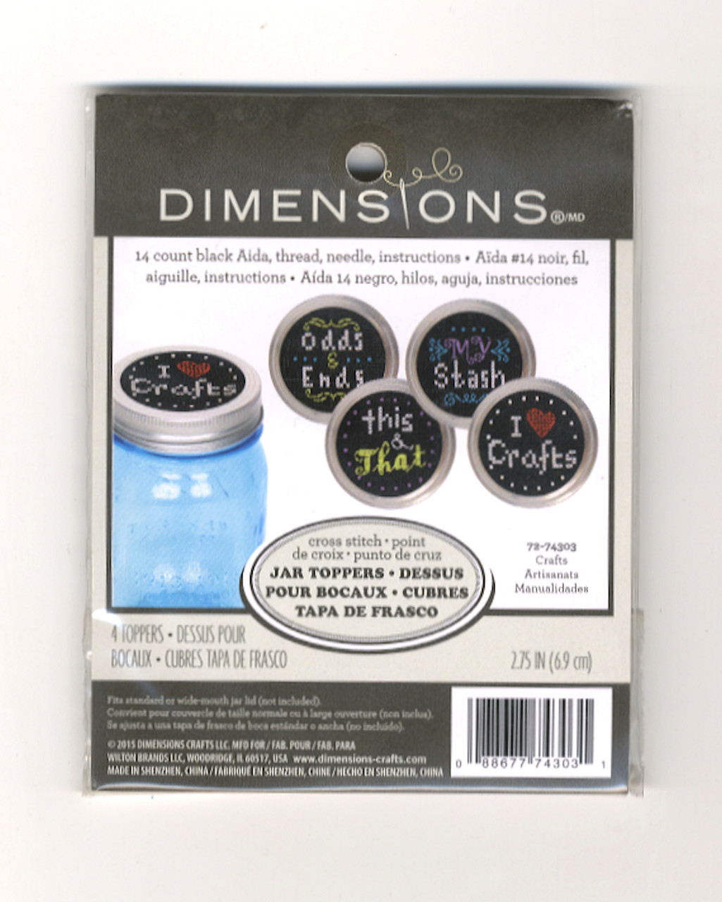 Dimensions - Crafts Jar Toppers (4)