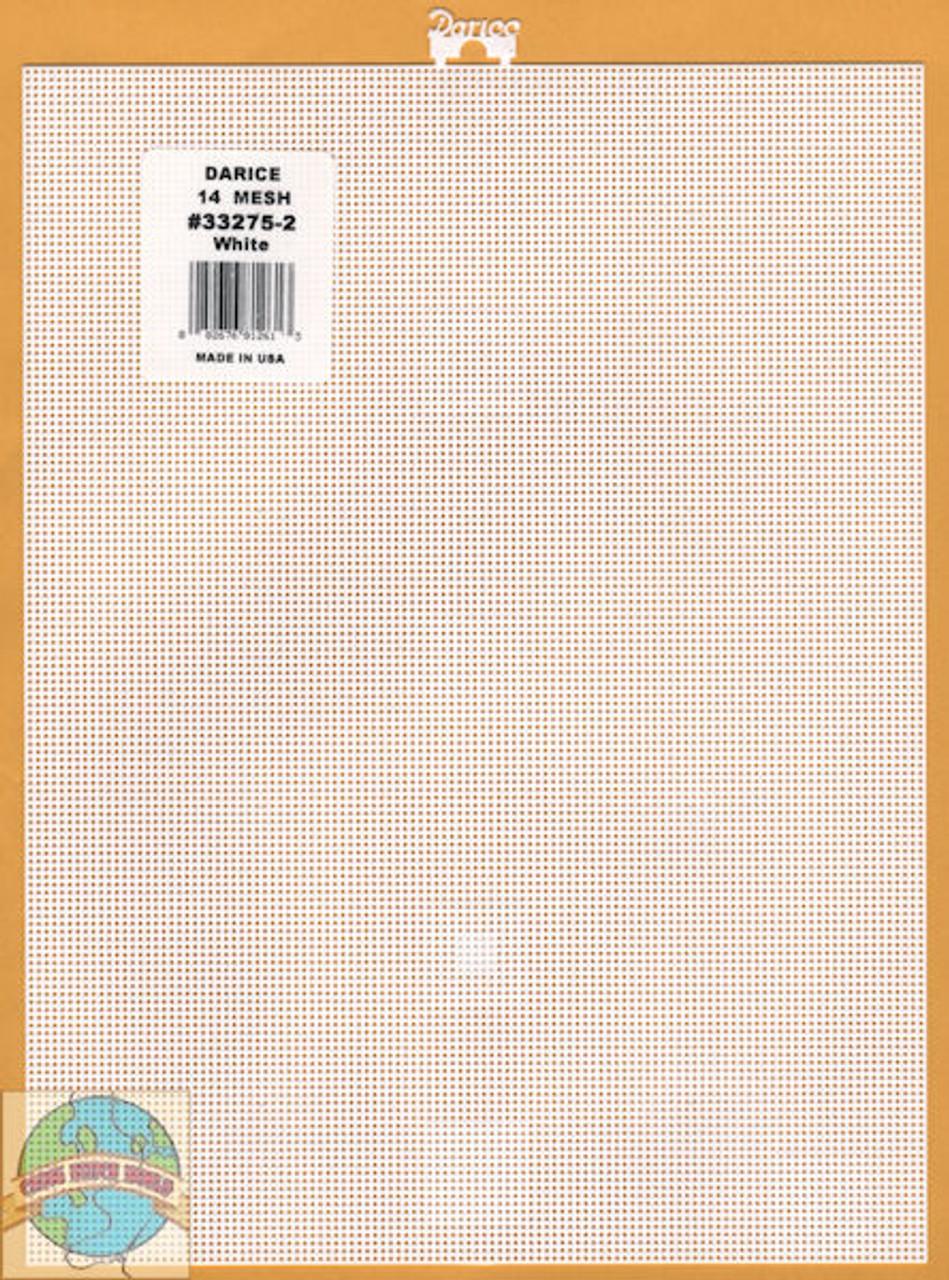 Darice - White Plastic Canvas 14 Count 8.25 x 11 inches