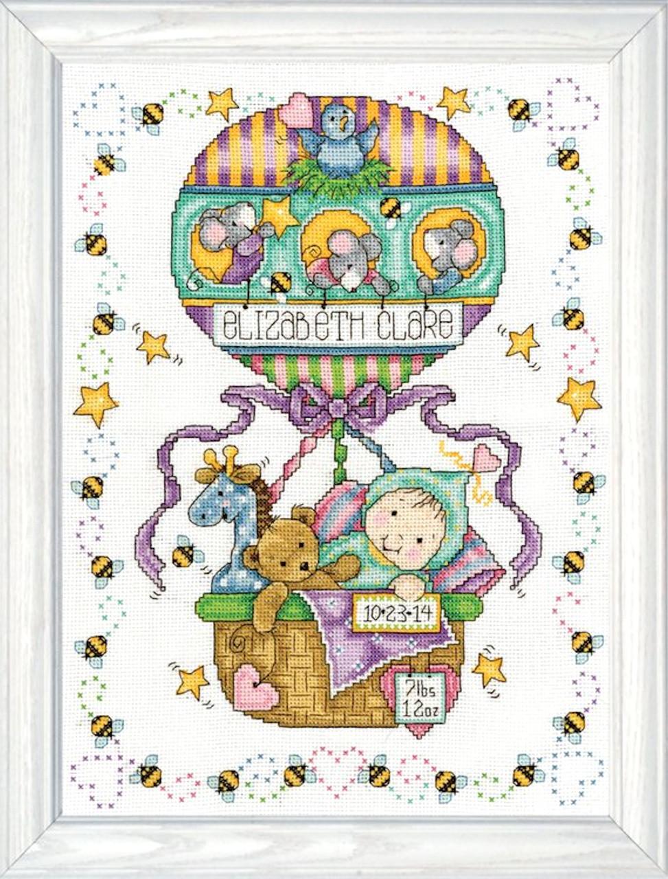 Design Works - Balloon Ride Birth Record