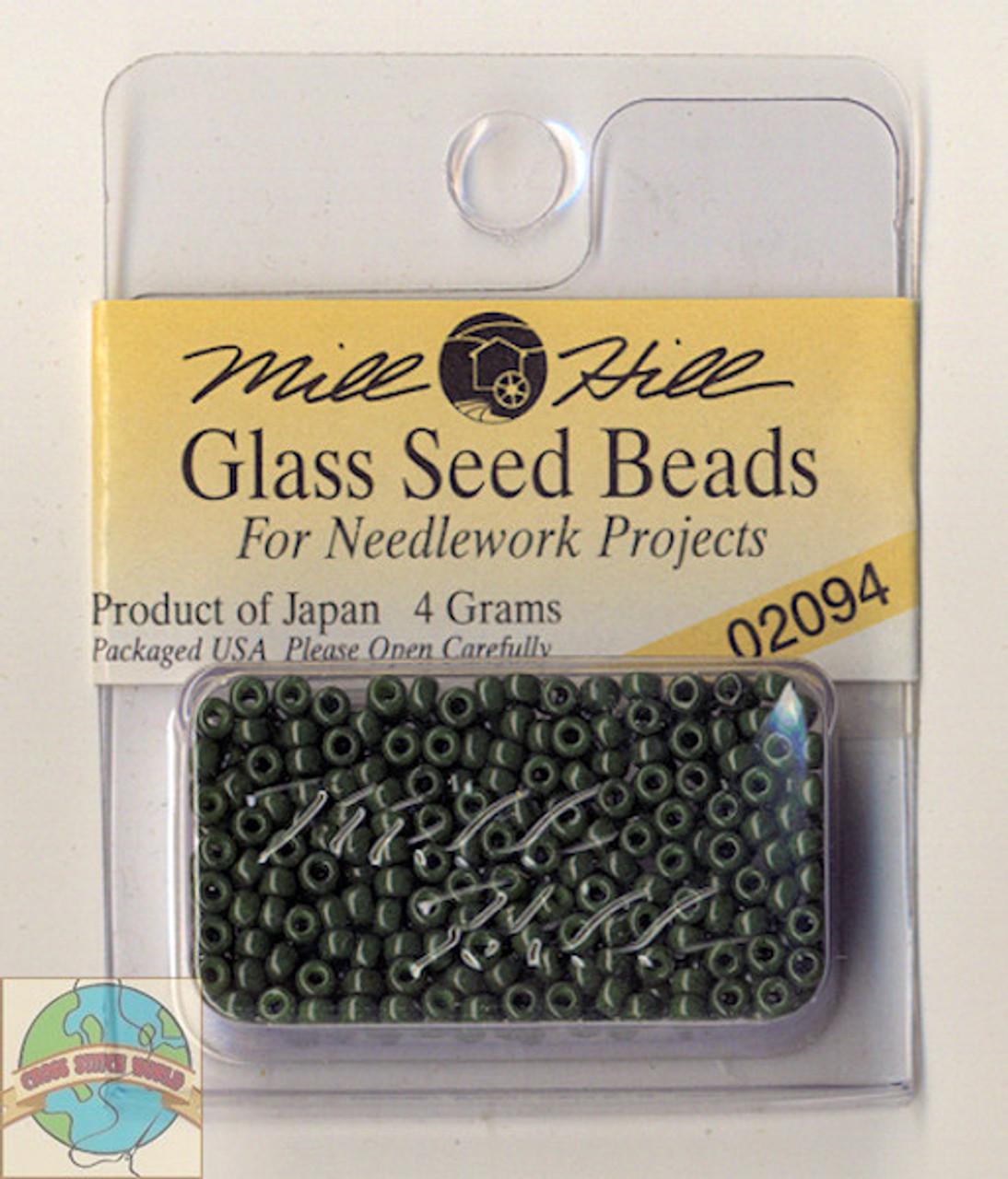 Mill Hill Glass Seed Beads 4g Opaque Moss
