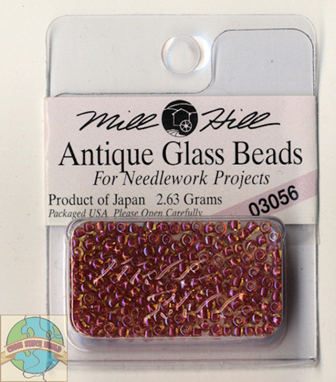 Mill Hill Antique Glass Beads 2.63g Antique Red #03056