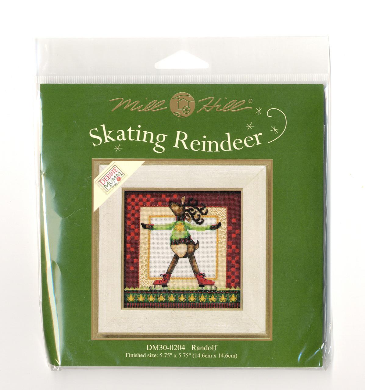 2010 Mill Hill Debbie Mumm Skating Reindeer - Randolf