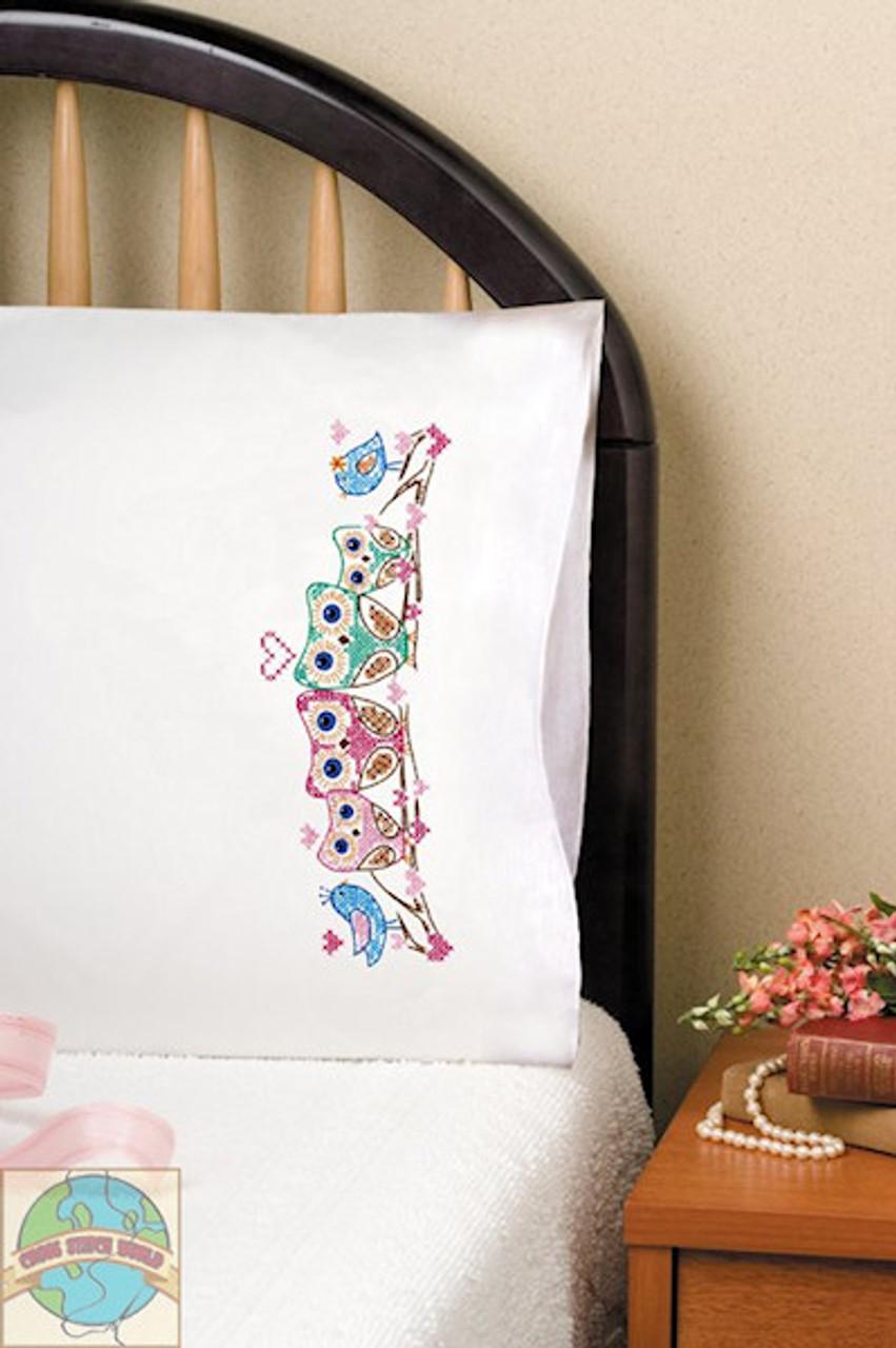 Design Works - Owls Pillowcases (2)