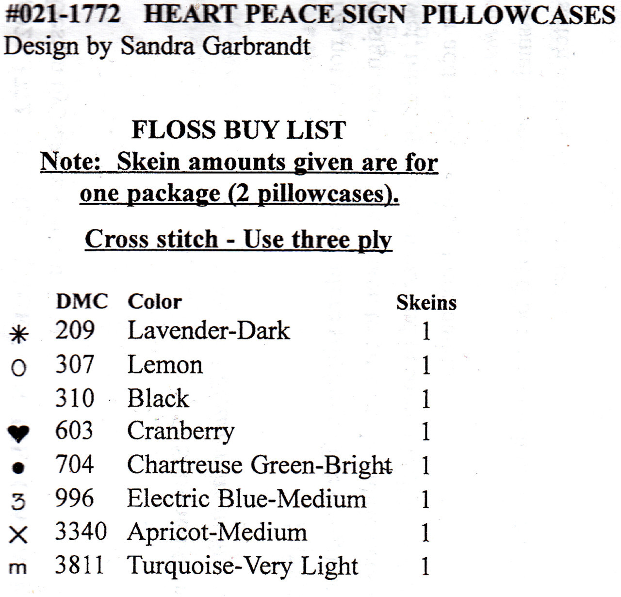 Janlynn - Heart Peace Sign Pillowcases (2)