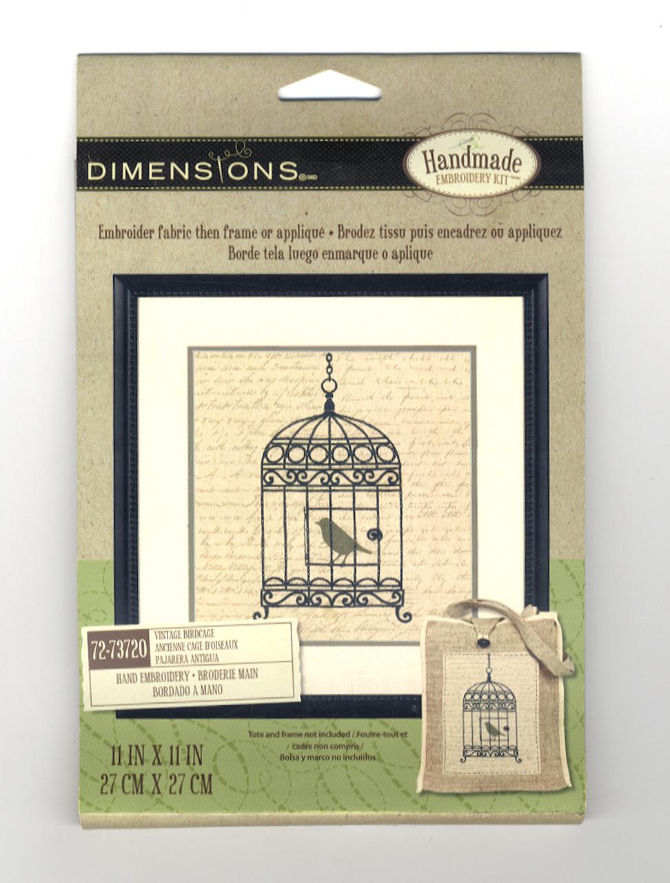 Dimensions - Vintage Birdcage