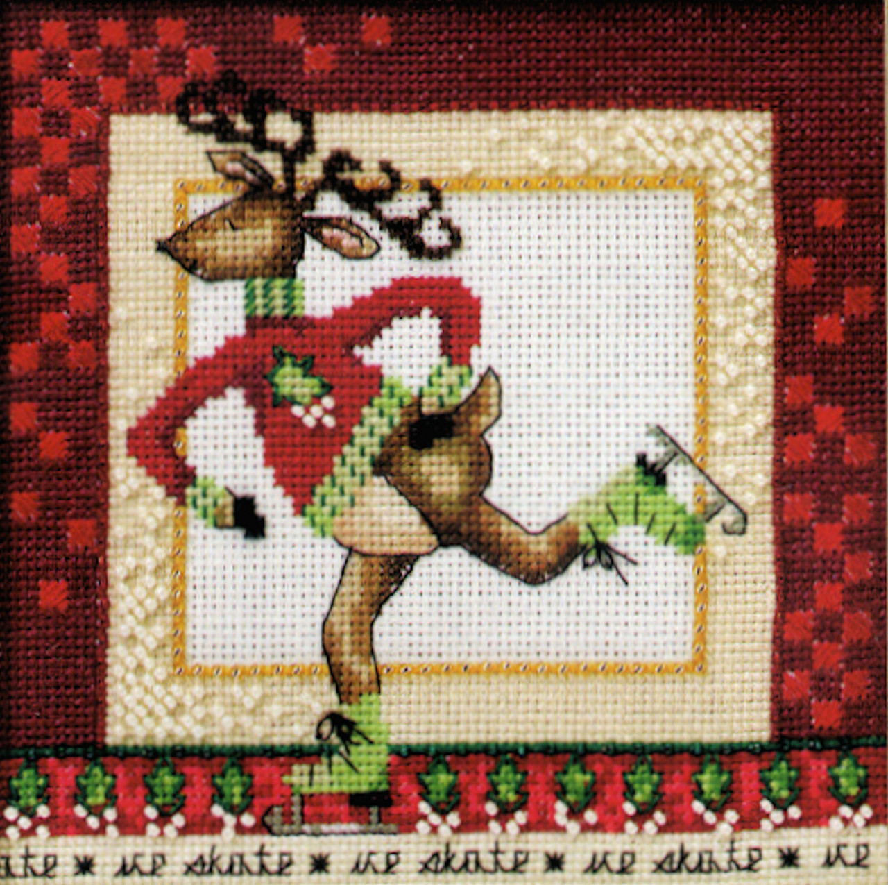 2010 Mill Hill Debbie Mumm Skating Reindeer - Raymond