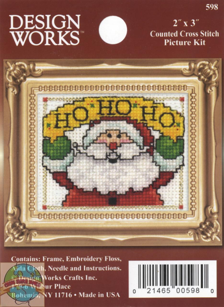 Design Works - Ho, Ho, Ho Picture Kit with Frame