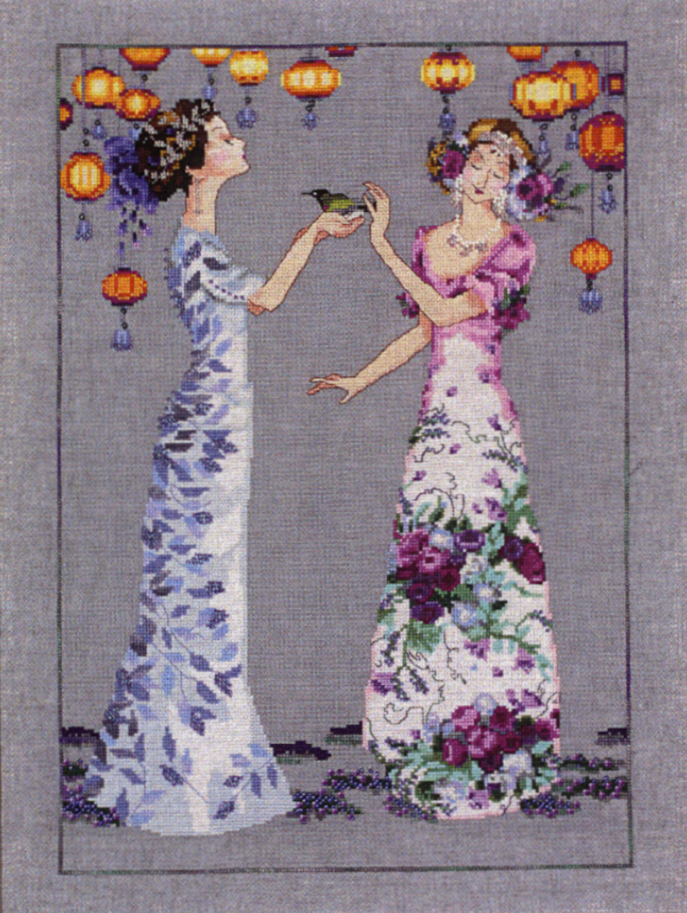 """Spring Garden Party Collection CHART /& EMBELLISHMENT by Nora Corbet /""""LAVENDER /"""""""