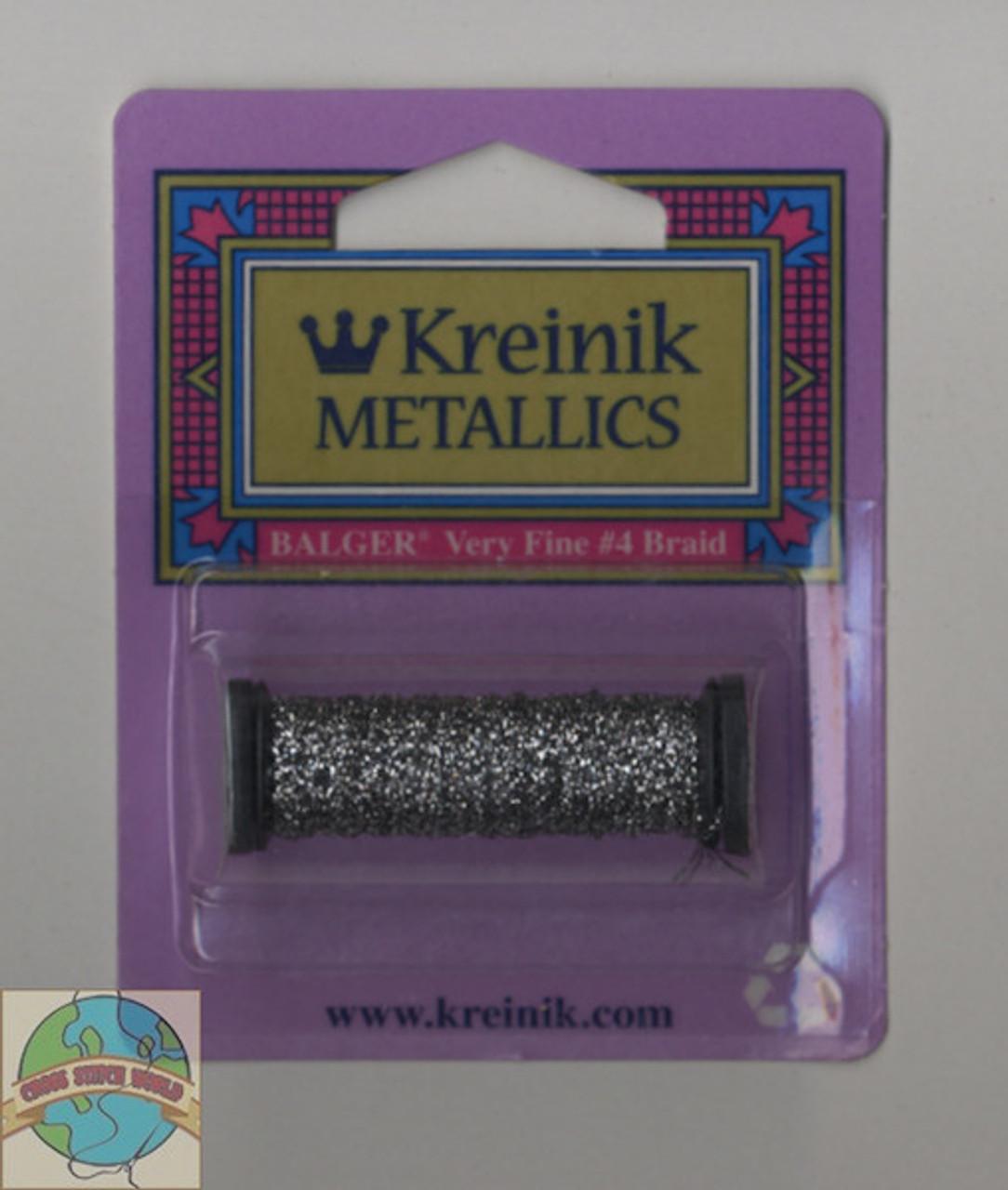 Kreinik Metallics - Very Fine #4 Pewter #019