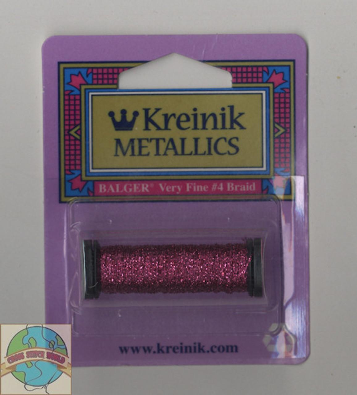 Kreinik Metallics - Very Fine #4 Fuschsia #024