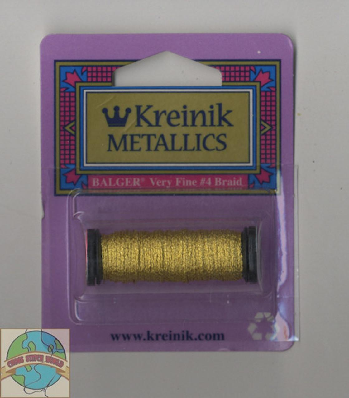 Kreinik Metallics - Very Fine #4 Japan Gold 002J