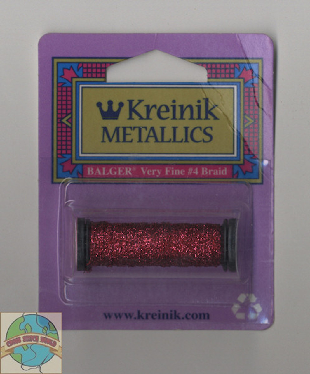 Kreinik Metallics - Very Fine #4 Crimson 031