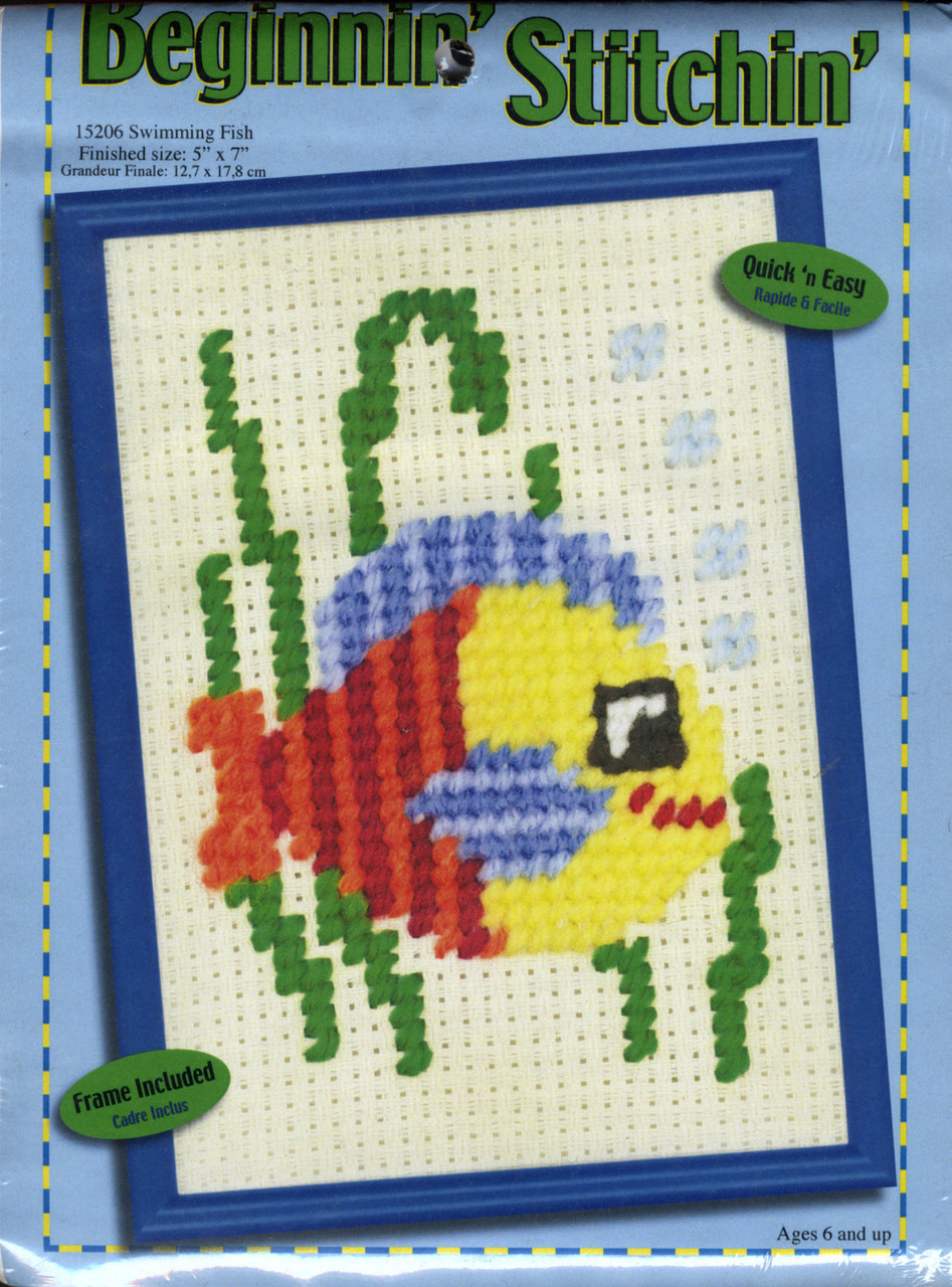 Candamar Beginnin' Stitchin' - Swimming Fish