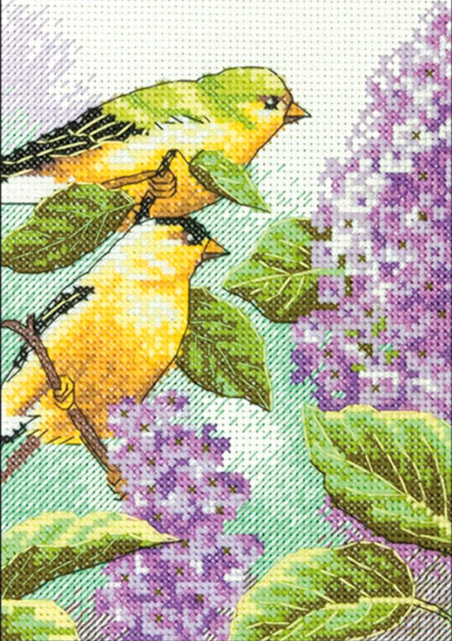Dimensions Minis - Goldfinch and Lilacs