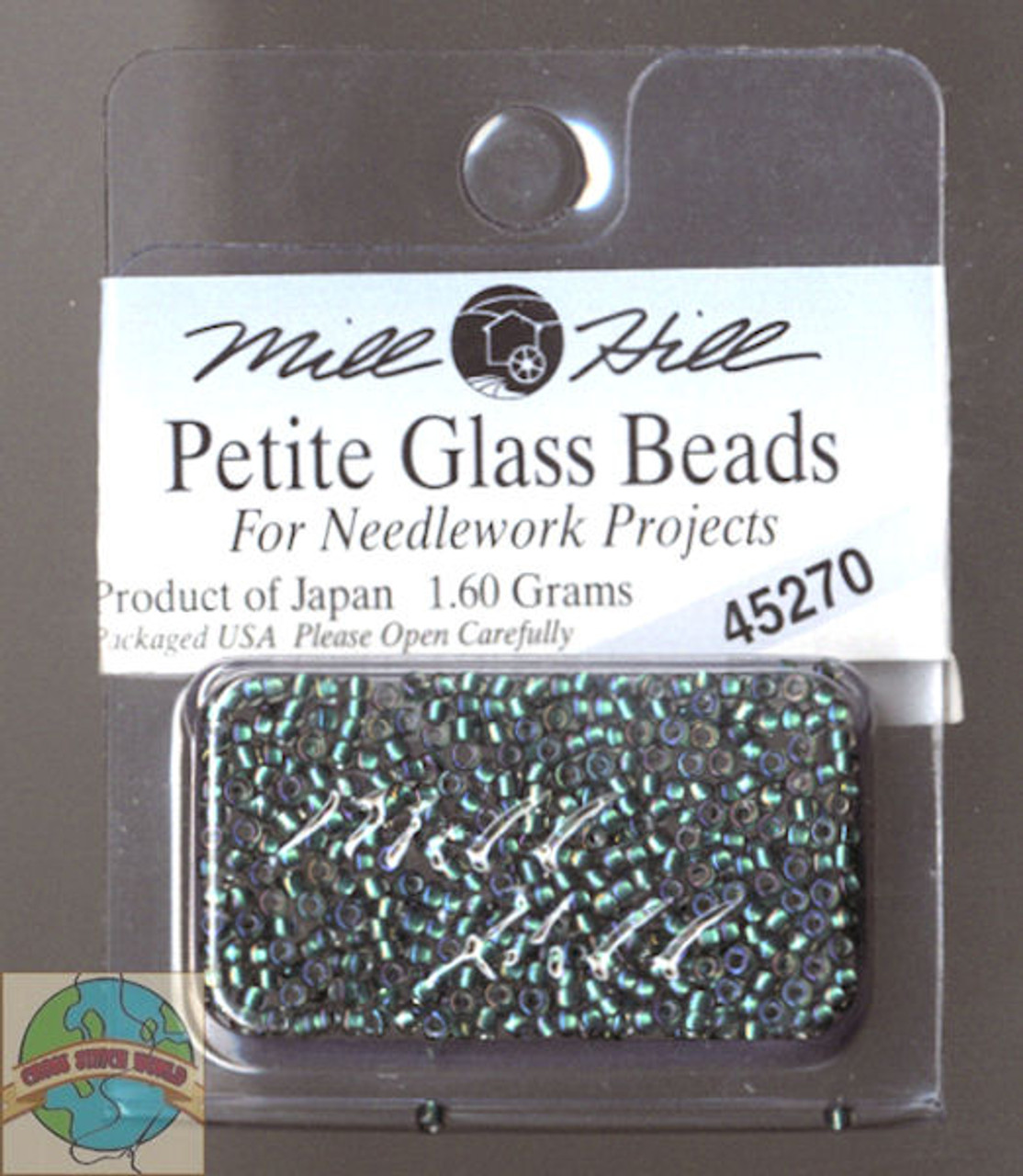 Mill Hill Petite Glass Beads 1.60g Bottle Green #45270