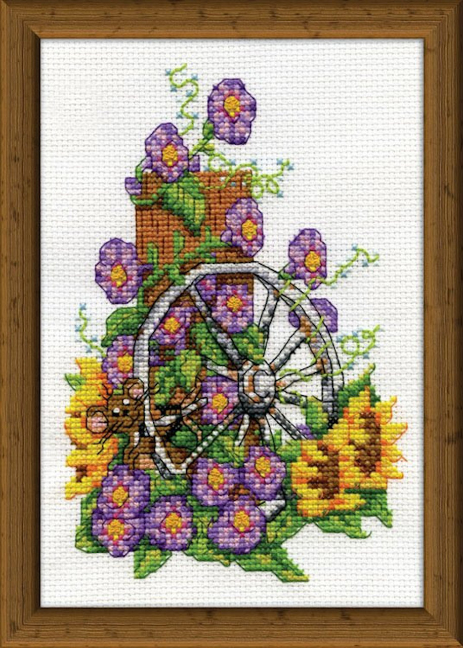 Design Works Wagon Wheel Mouse Crossstitchworld