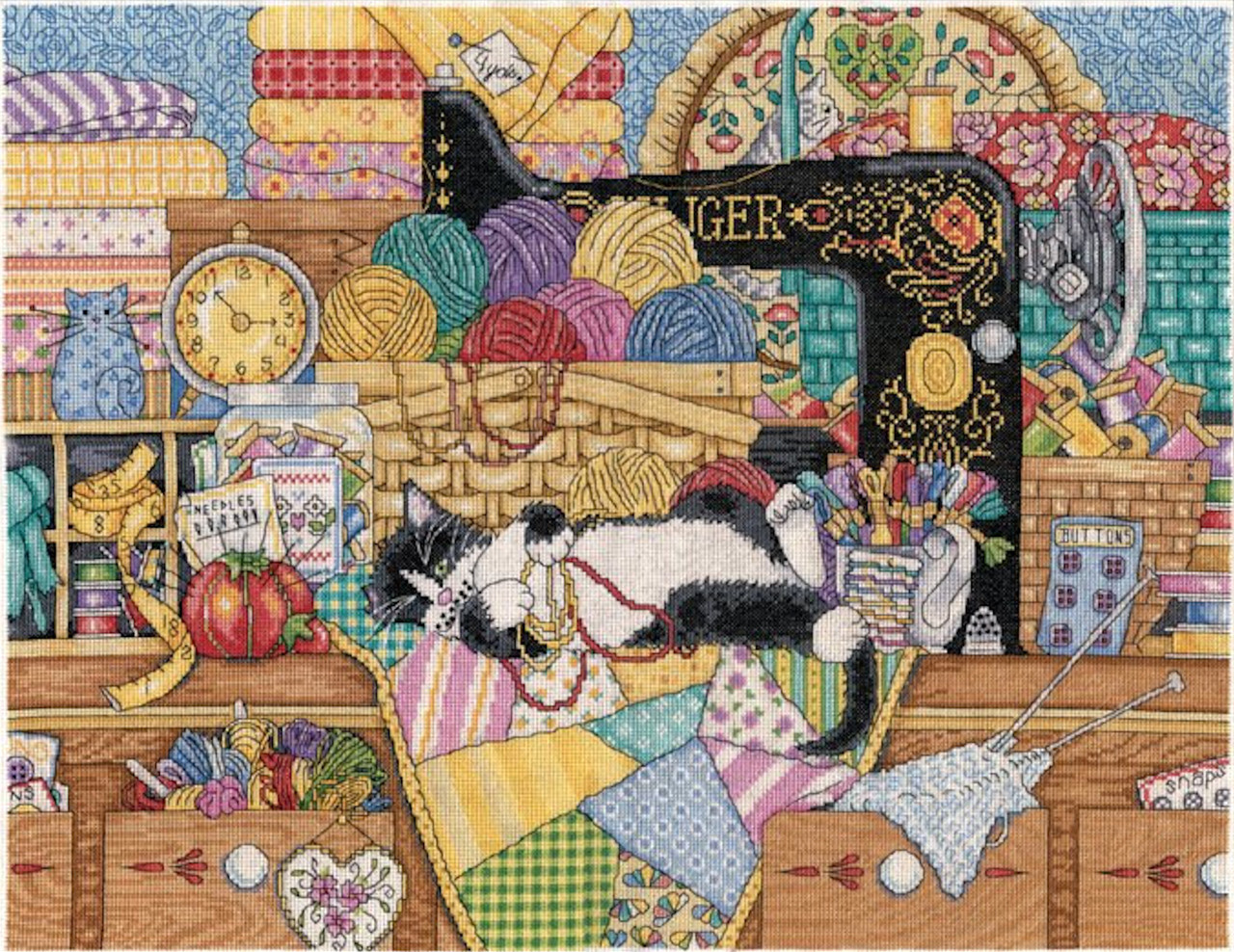Design Works - Kitty's Sewing Lesson