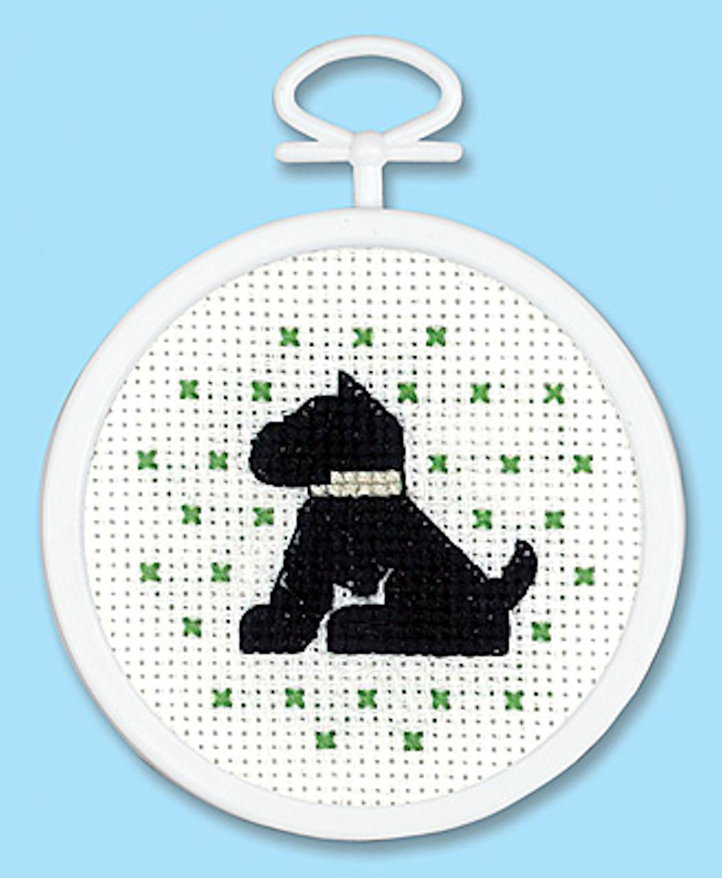 Doggie Cross Stitch Kti with Hoop by Janlynn