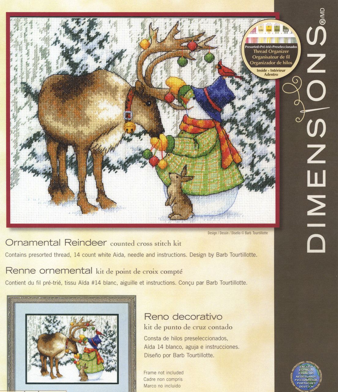 Dimensions - Ornamental Reindeer