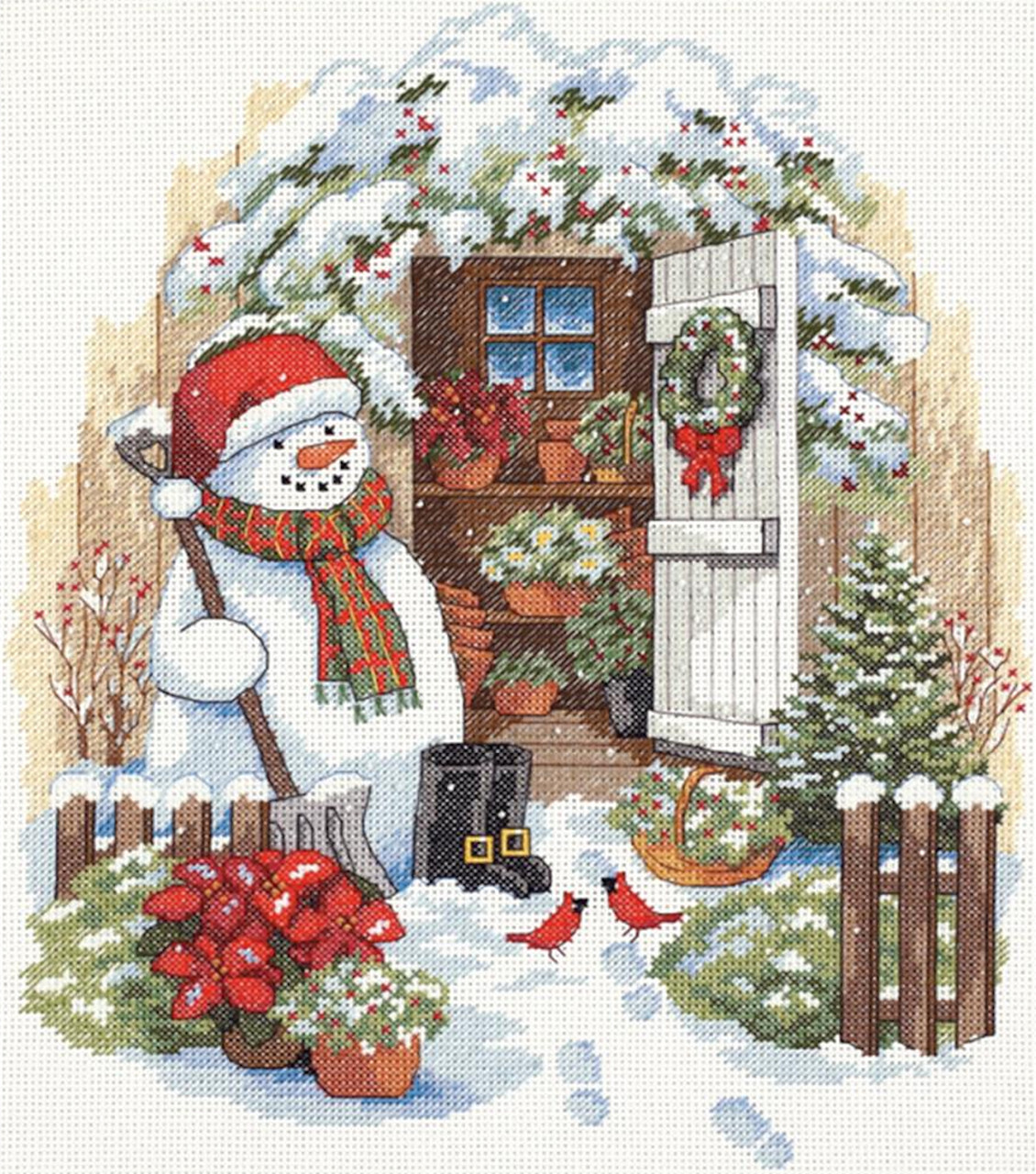 Dimensions - Garden Shed Snowman