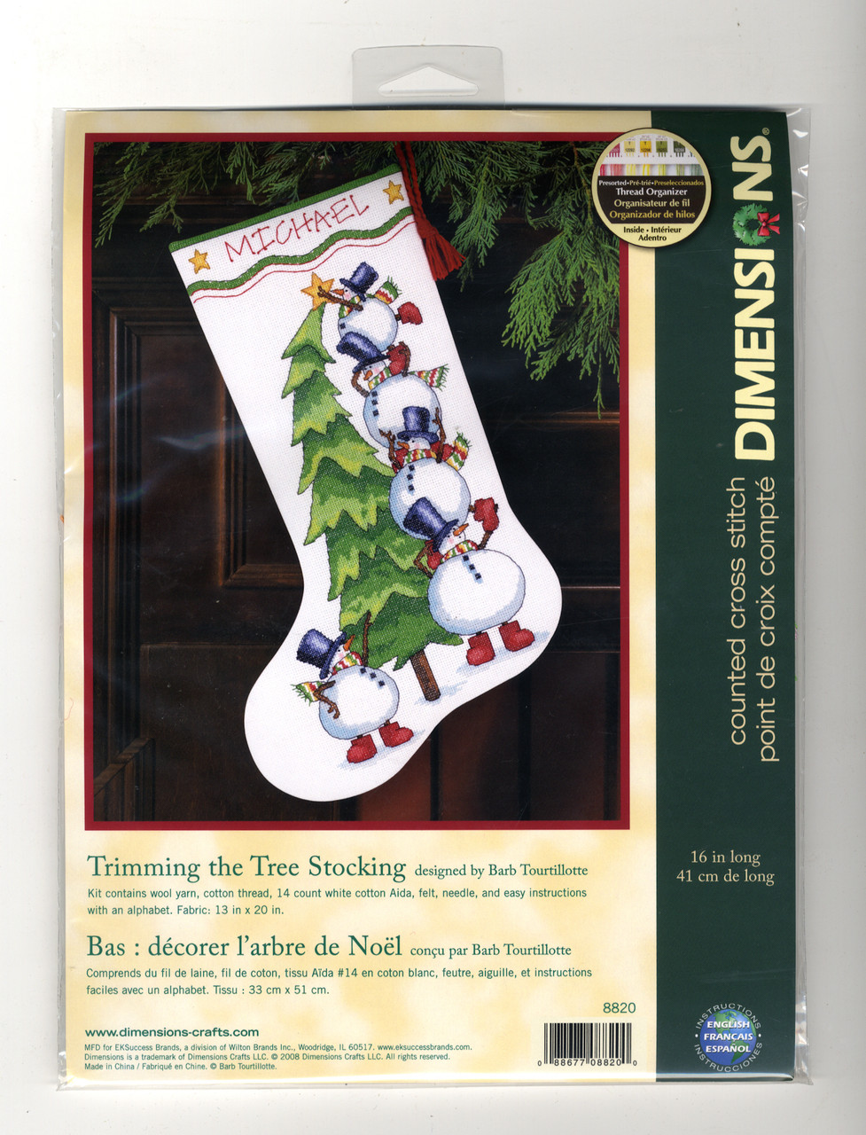 Dimensions - Trimming the Tree Stocking